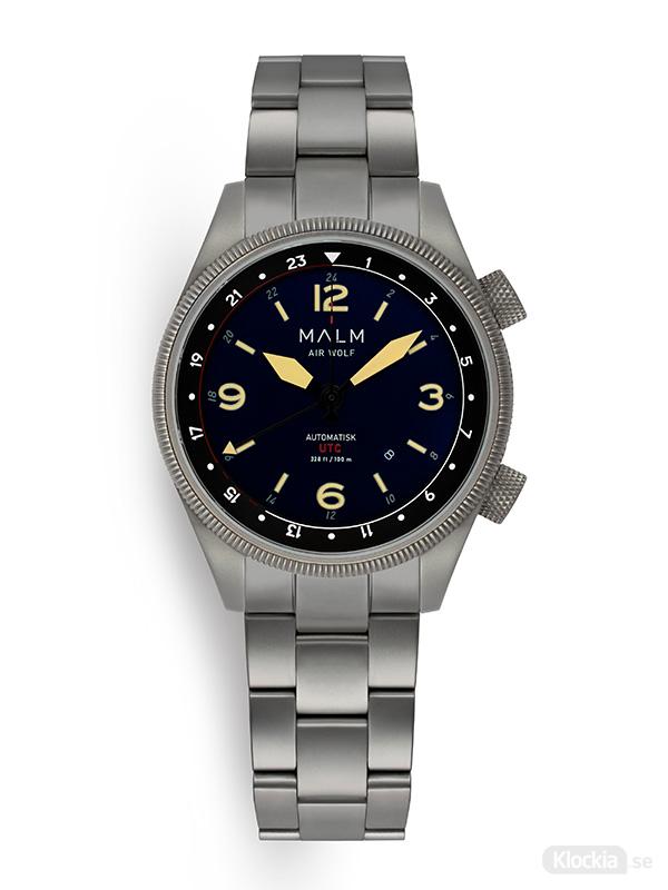 MALM AIR WOLF Silver Dark Blue Classic Bracelet MW-AW39SRBLCL