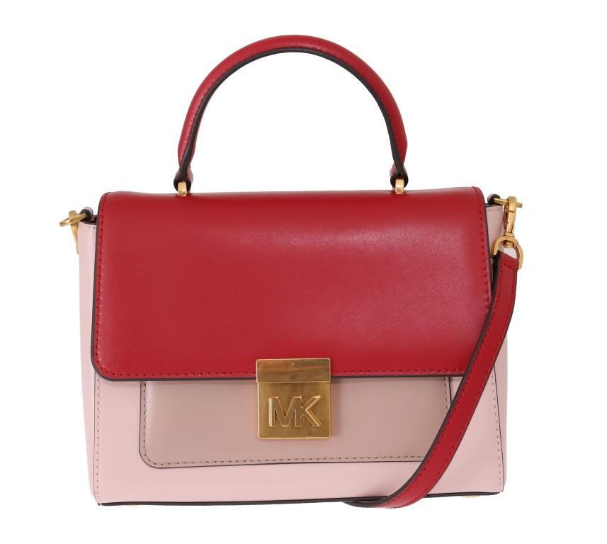 Michael Kors Women's MINDY Satchel Bag Red Pink MK5008