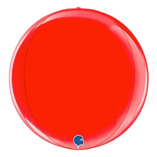 Folieballong Globe Röd