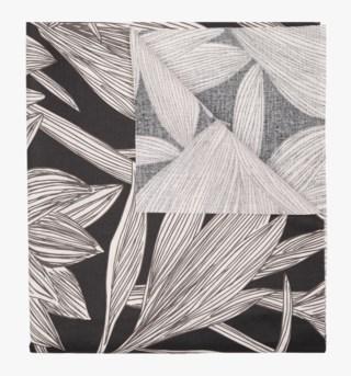 Linear-Iris pintakäsitelty pöytäliina musta