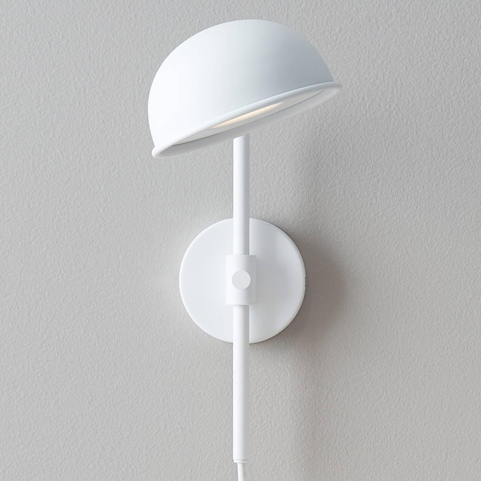 LED-vegglampe Bolero med dimmer, hvit