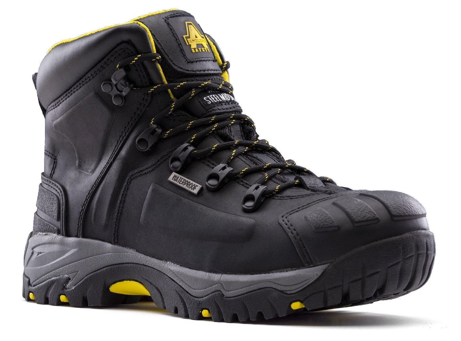 Amblers Unisex Safety Waterproof Wide Fit Boot Black 29416 - Black 7