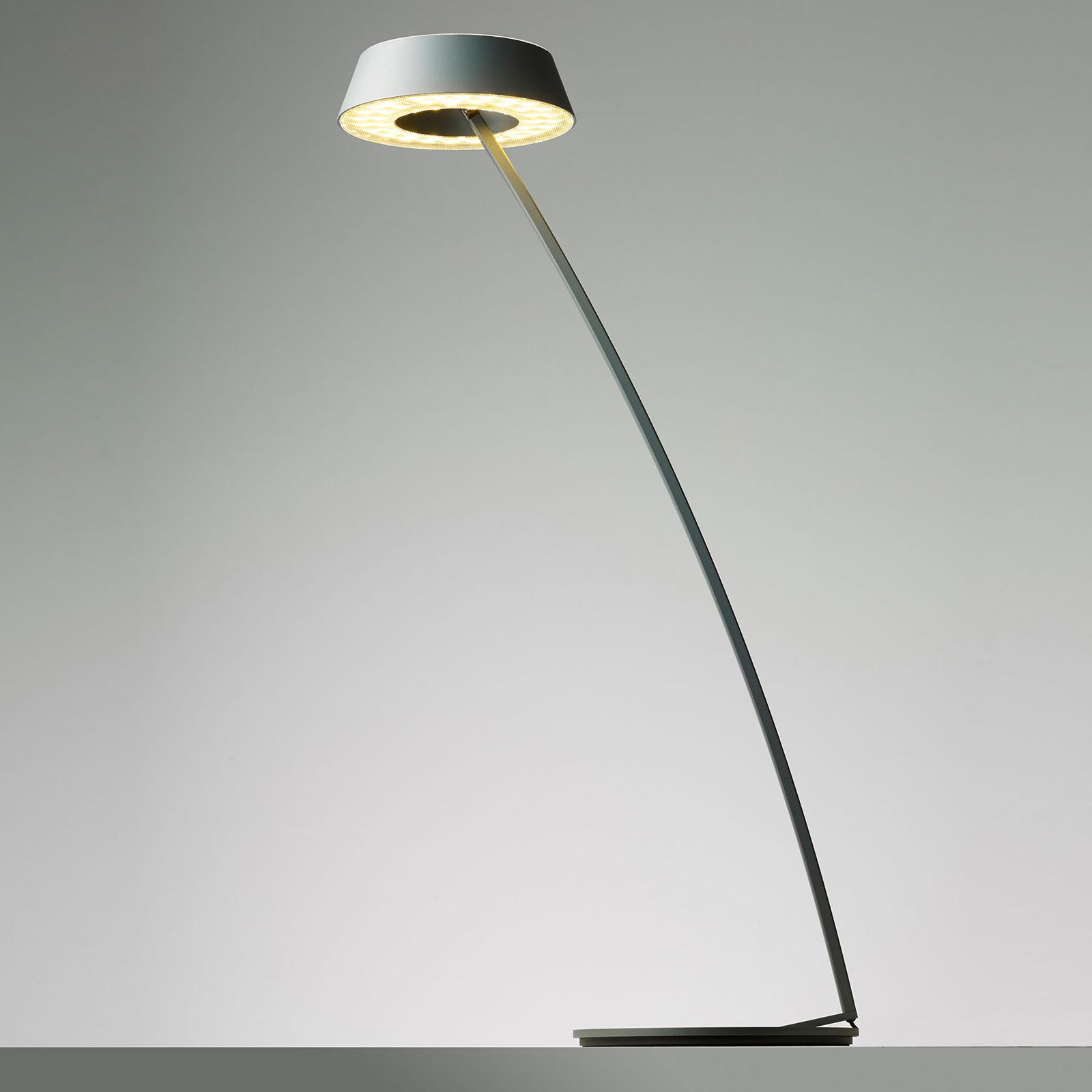 OLIGO Glance LED-pöytälamppu, kaareva, harmaa