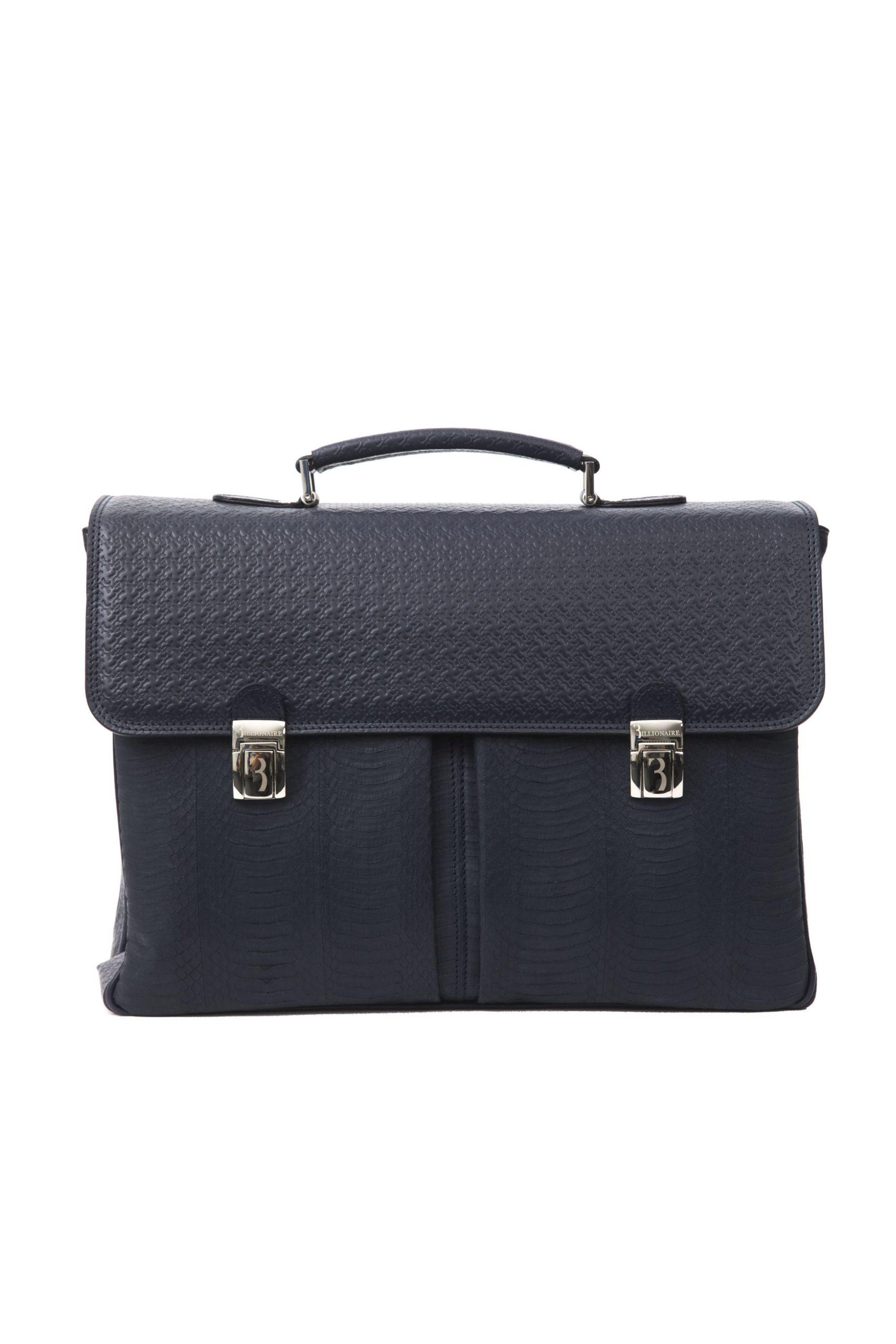Billionaire Italian Couture Men's Briefcases Blue BI1267163