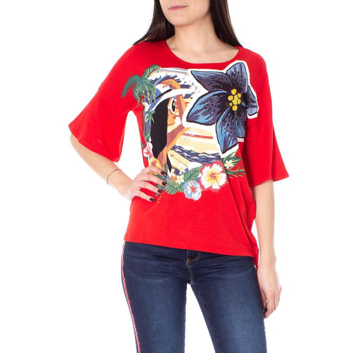 Desigual Women's T-Shirt Red 167190 - red S