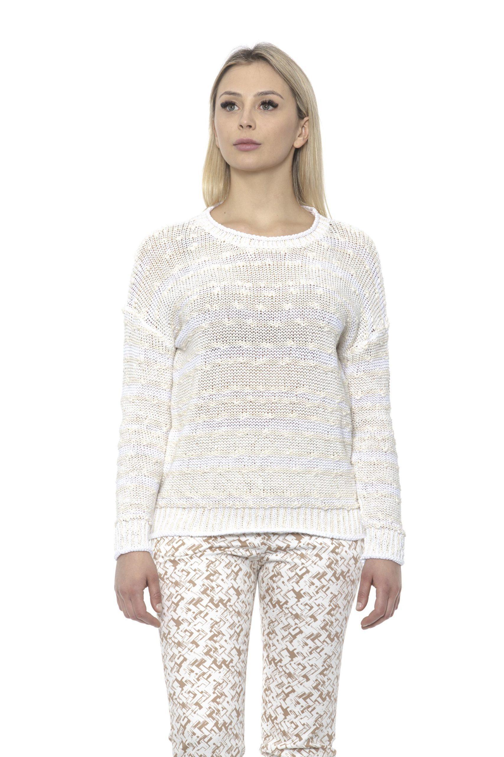 Peserico Women's A Panna Sweater Beige PE1426942 - IT42   S