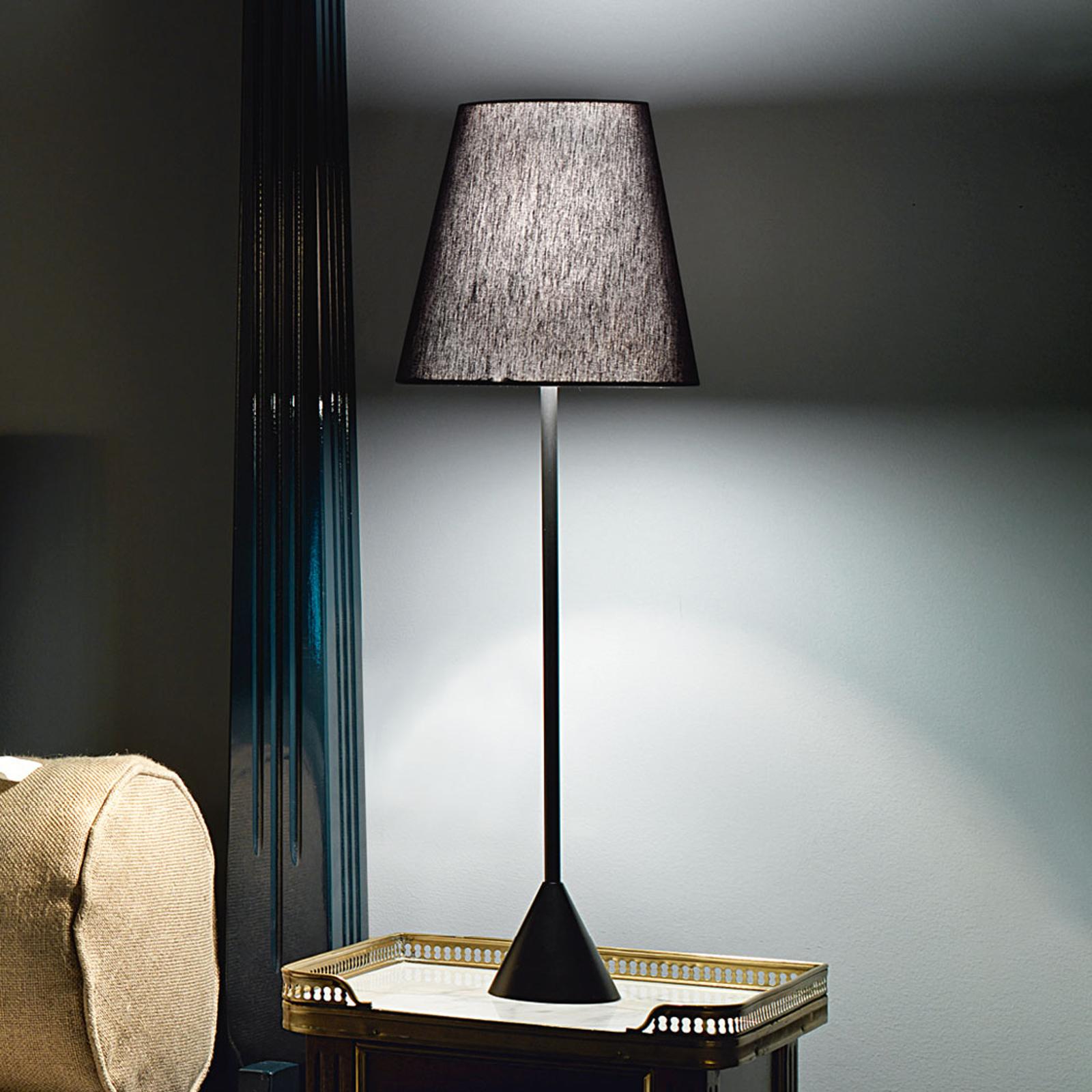 Modo Luce Lucilla pöytälamppu, Ø 24 cm, musta