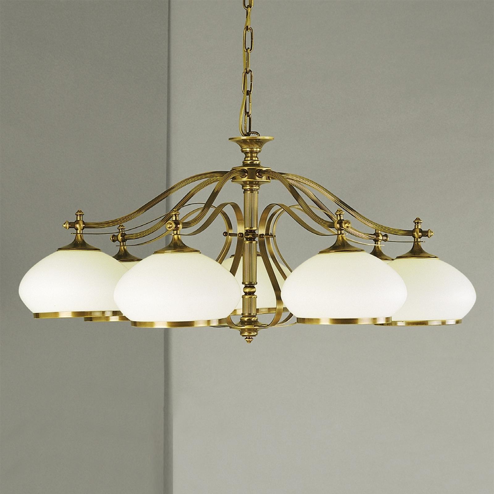 Lumoava Empira riippuvalaisin, 7-lamp. antiikkimes