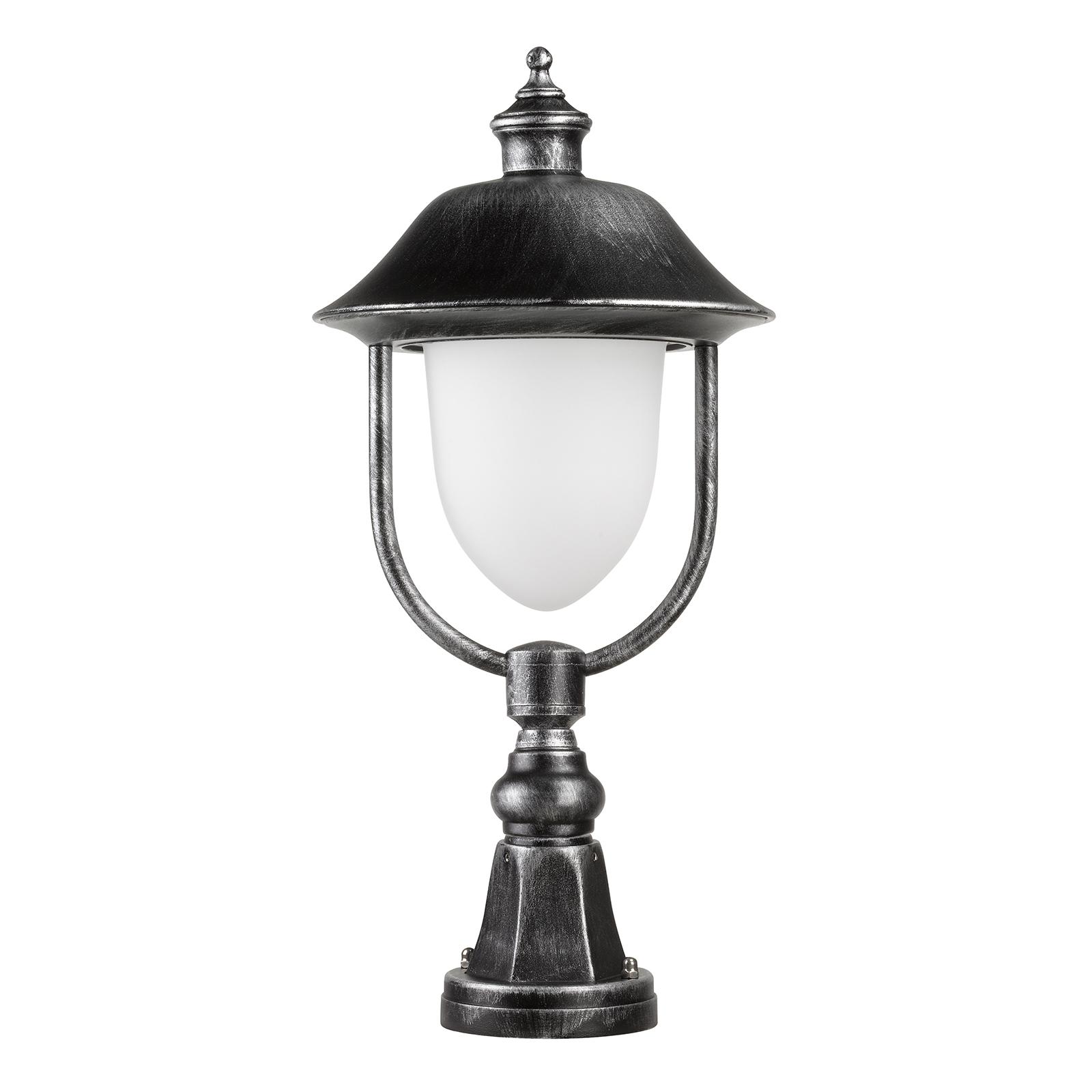 Pollarilamppu 1156, musta/hopea