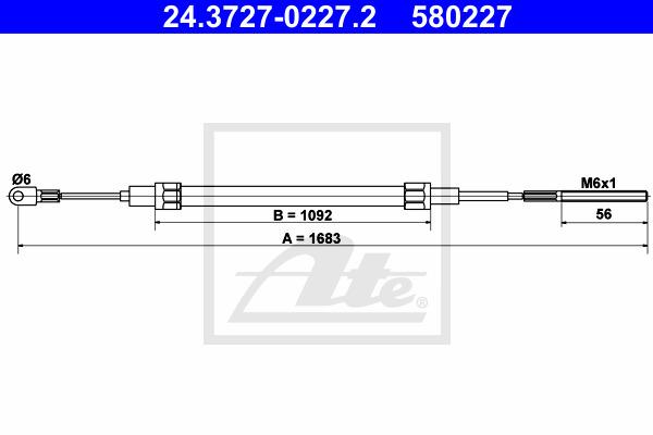 Käsijarruvaijeri ATE 24.3727-0227.2