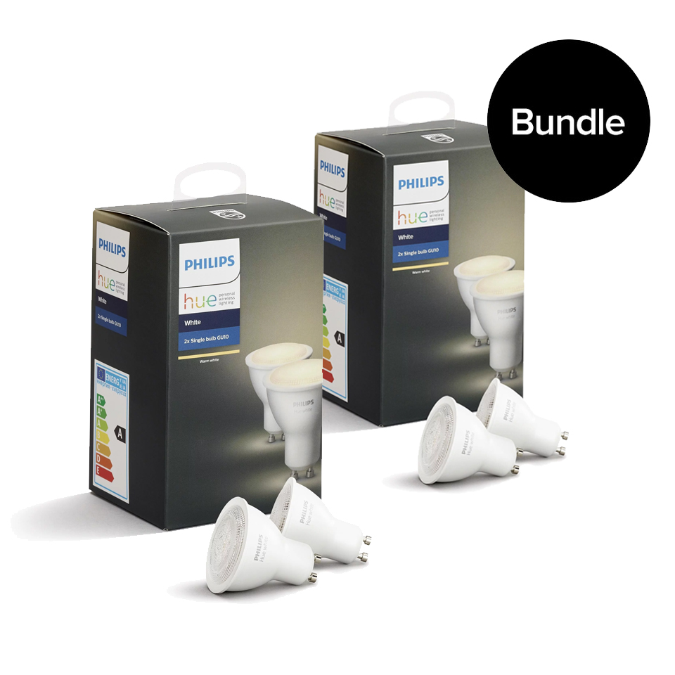 Philips Hue - 2xGU10 Dual Pack - Warm White - Bluetooth - Bundle