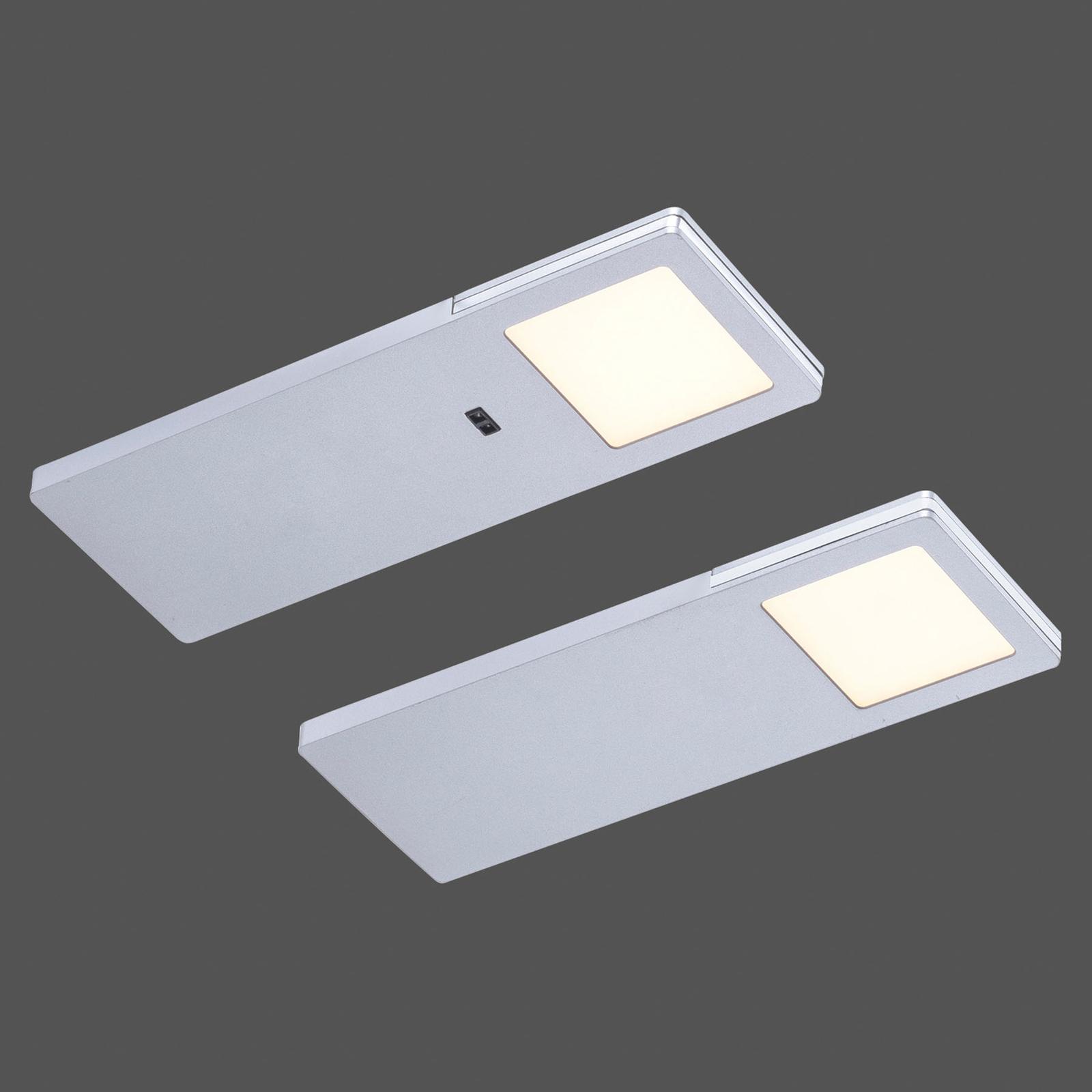 LED-kaapinalusvalaisin Amon, 2 kpl, kulmikas