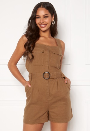 ONLY Noreen-Bibs Playsuit Toasted Coconut 34