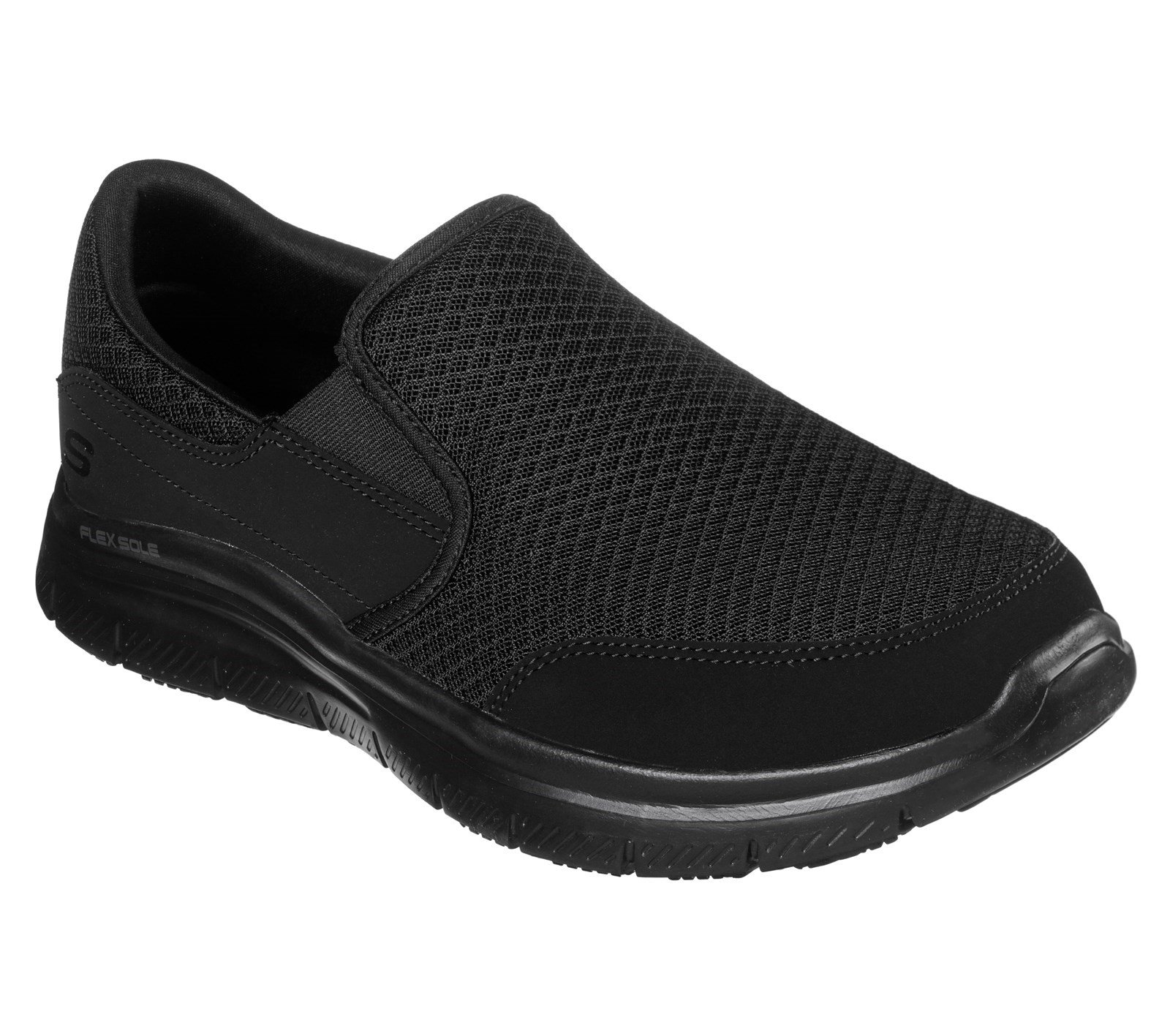 Skechers Unisex McAllen Wide Slip Trainer Black 32945 - Black 6