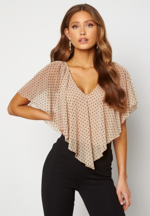 Happy Holly Fanny top Light beige / Dotted 44/46