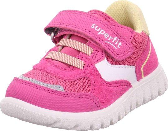Superfit Sport7 Mini Sneaker, Pink/Yellow, 24