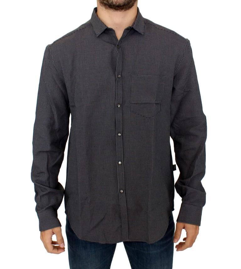 Costume National Men's Linen Casual Shirt Gray SIG10355 - IT52 | XL