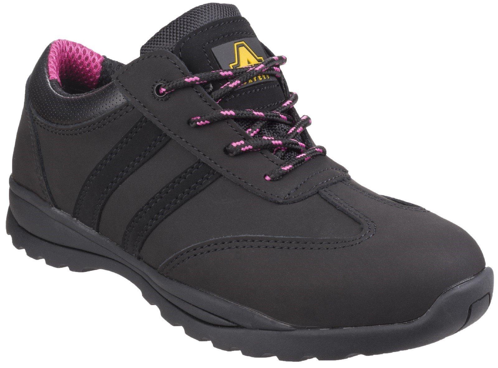 Amblers Women's Safety Sophie Lace Up Trainer Black 24927 - Black 2