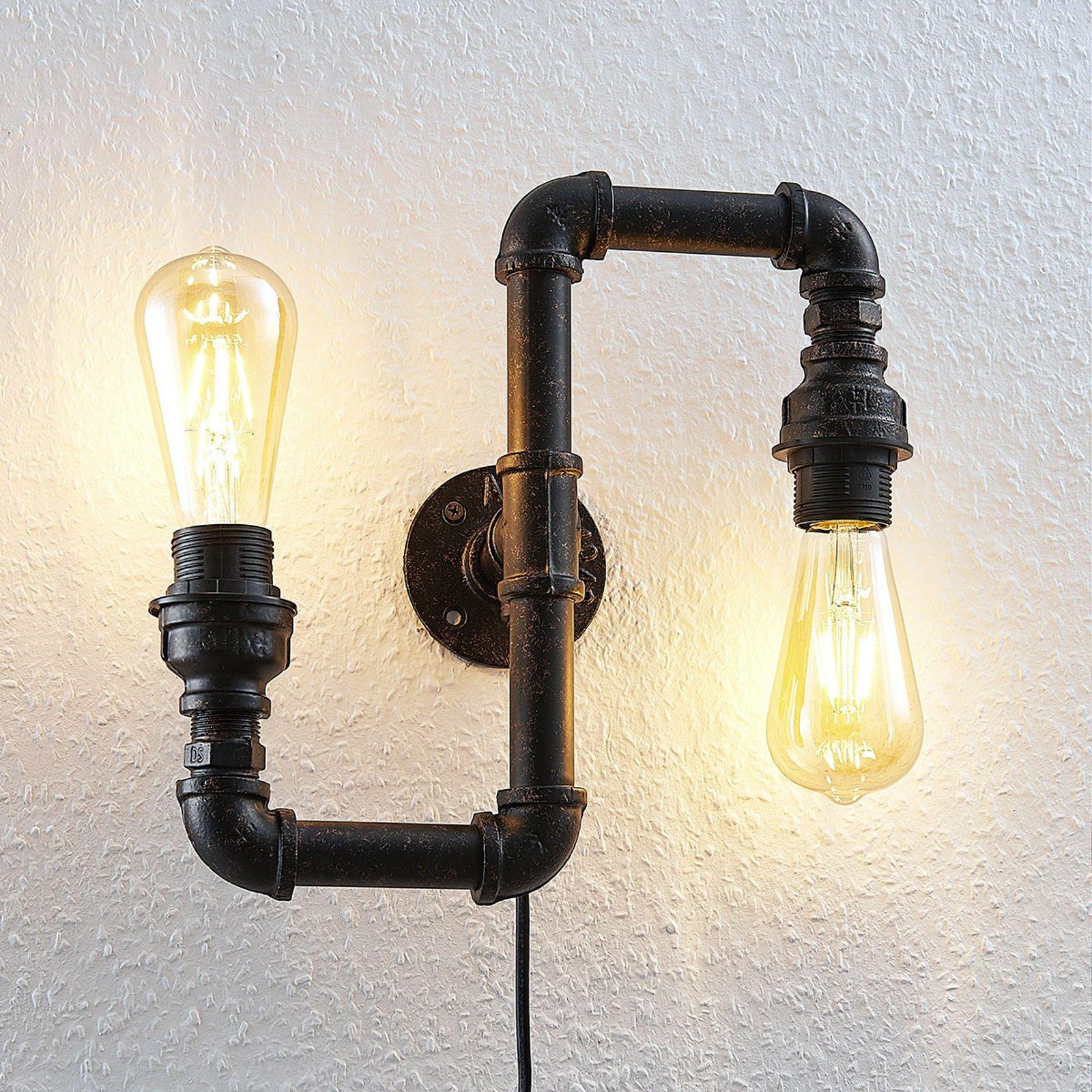 Vegglampe Josip i industridesign, up & down