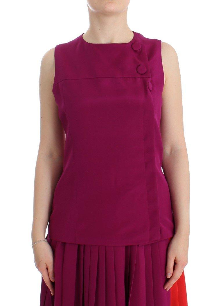 Barbara Casasola Women's Silk Sleeveless Top Purple SIG12590 - IT42 | S