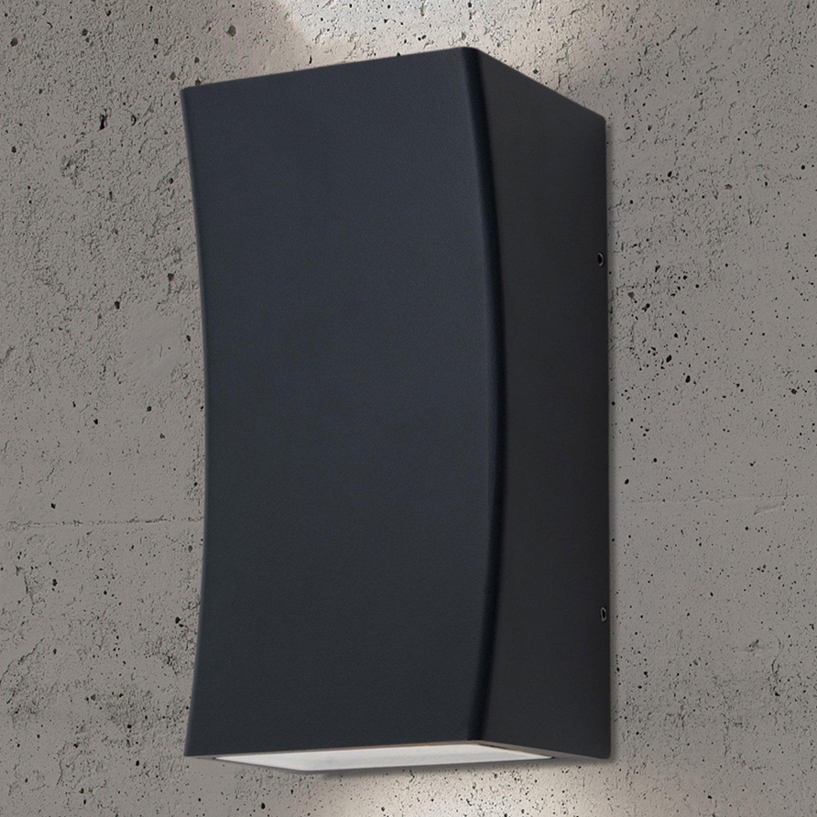 Asha - utendørs LED-vegglys i koksgrått