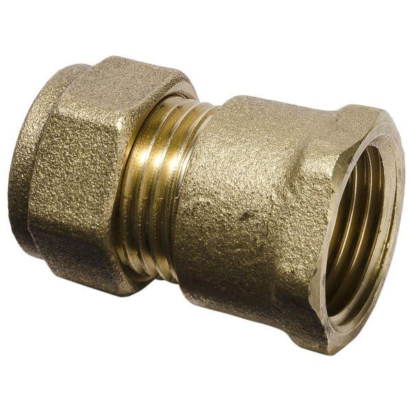 Gelia 3006155122 Klemringkobling rett, for PEX, inkl. støttehylse inv. gjenge, 15 x G15