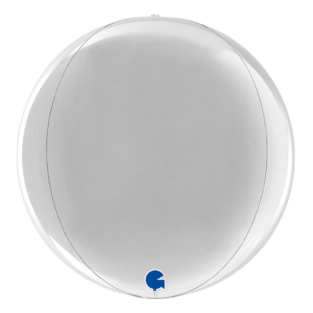 Folieballong Globe Rund Silver - 1-pack
