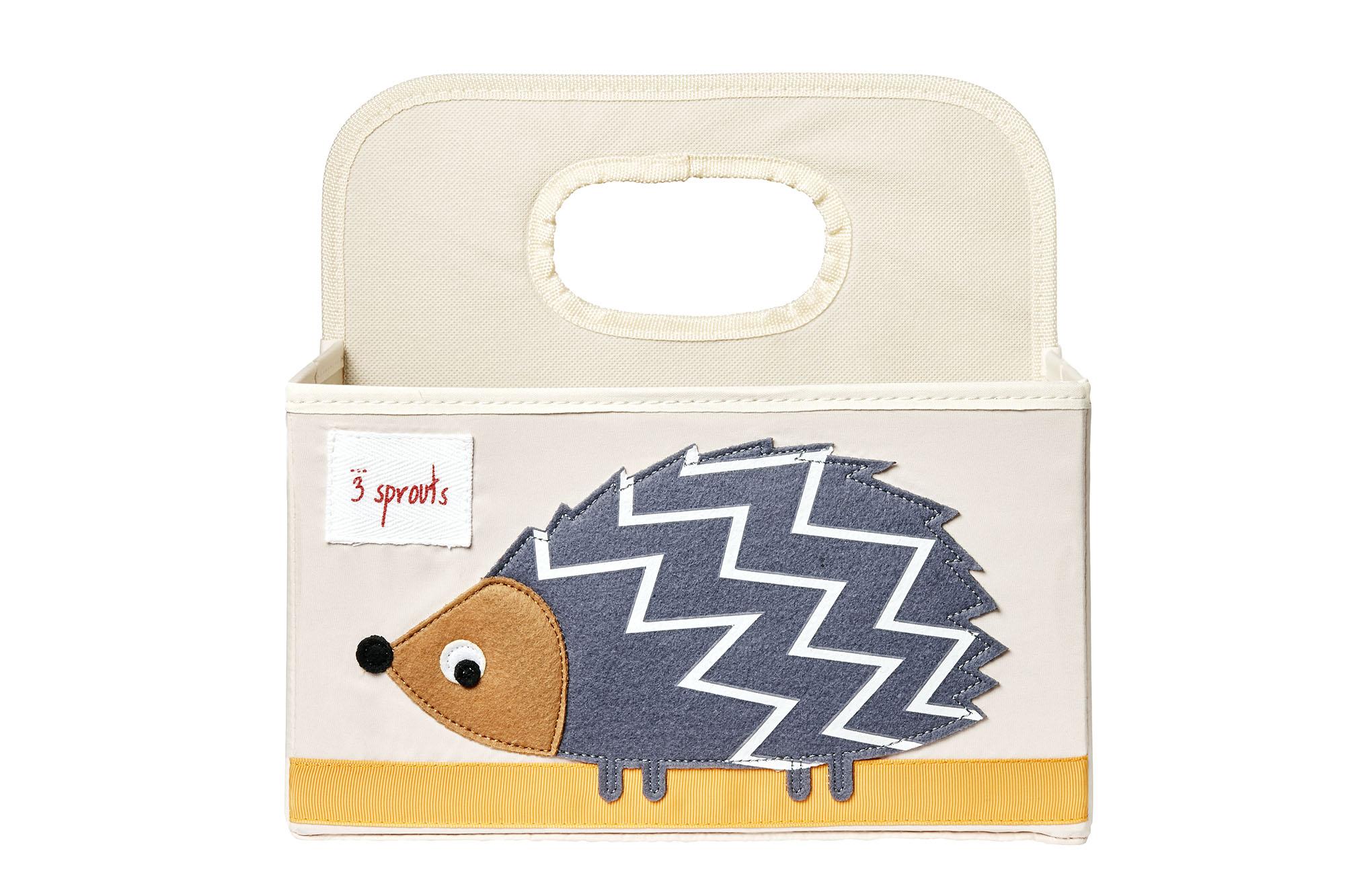 3 Sprouts - Diaper Caddy - Grey Hedgehog