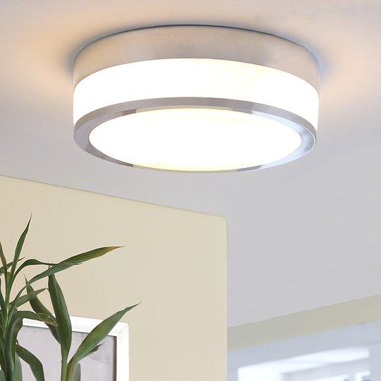 Lindby Flavi LED-kattovalaisin, Ø 28 cm, kromi