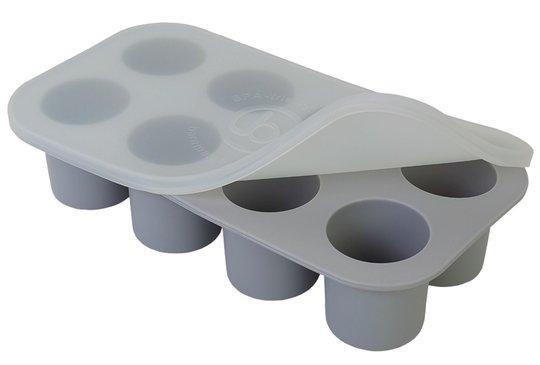 Barnmatsburken Porsjonsform Med Lokk, Grå