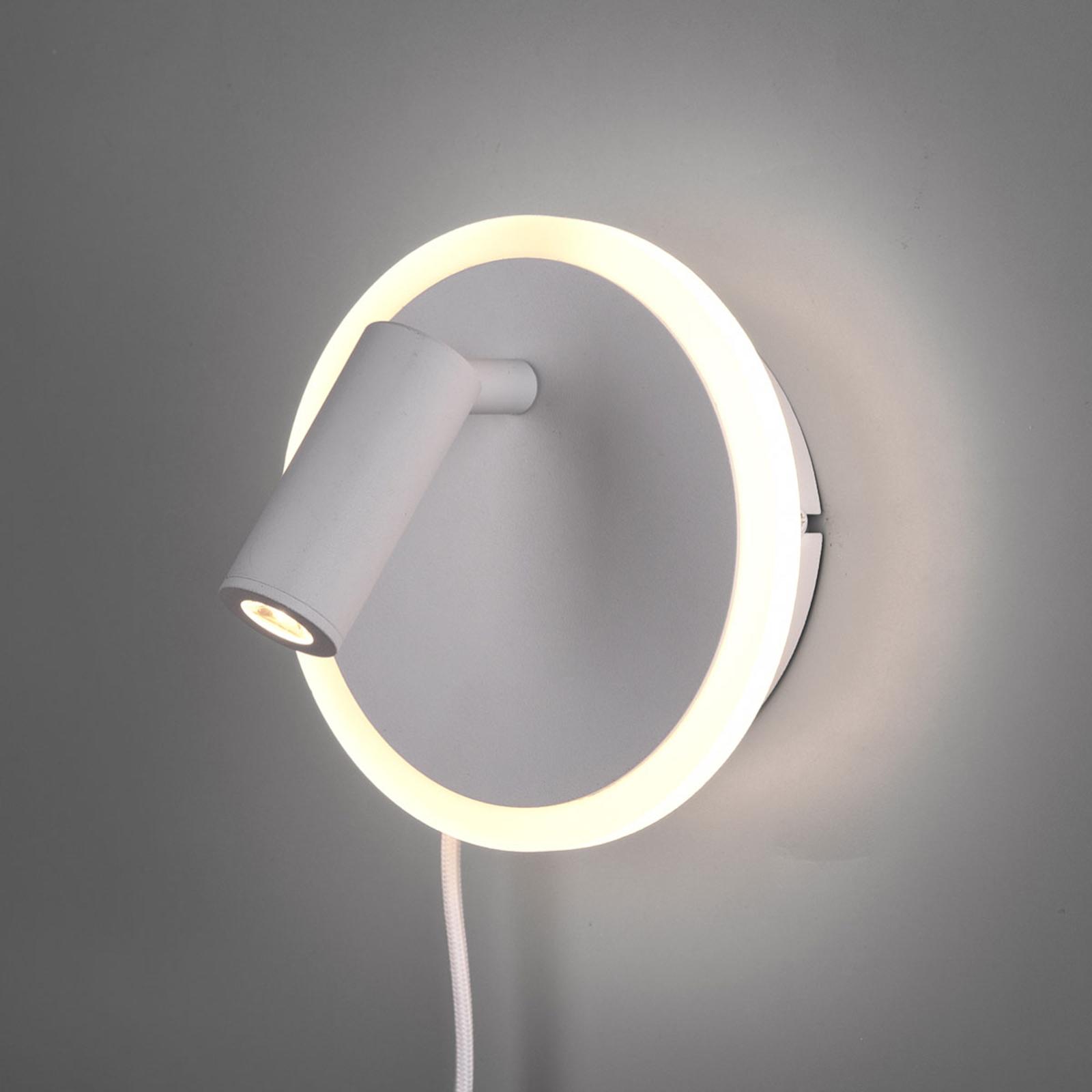 LED-seinävalaisin Jordan, 2-lamppuinen valkoinen