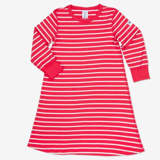 Nattkjole stripet baby/barn rød