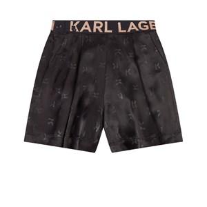 Karl Lagerfeld Kids All Over Print Shorts Svarta 5 år