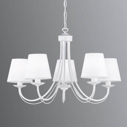 Kattokruunu Cortez, valkoinen, 5-lamppuinen