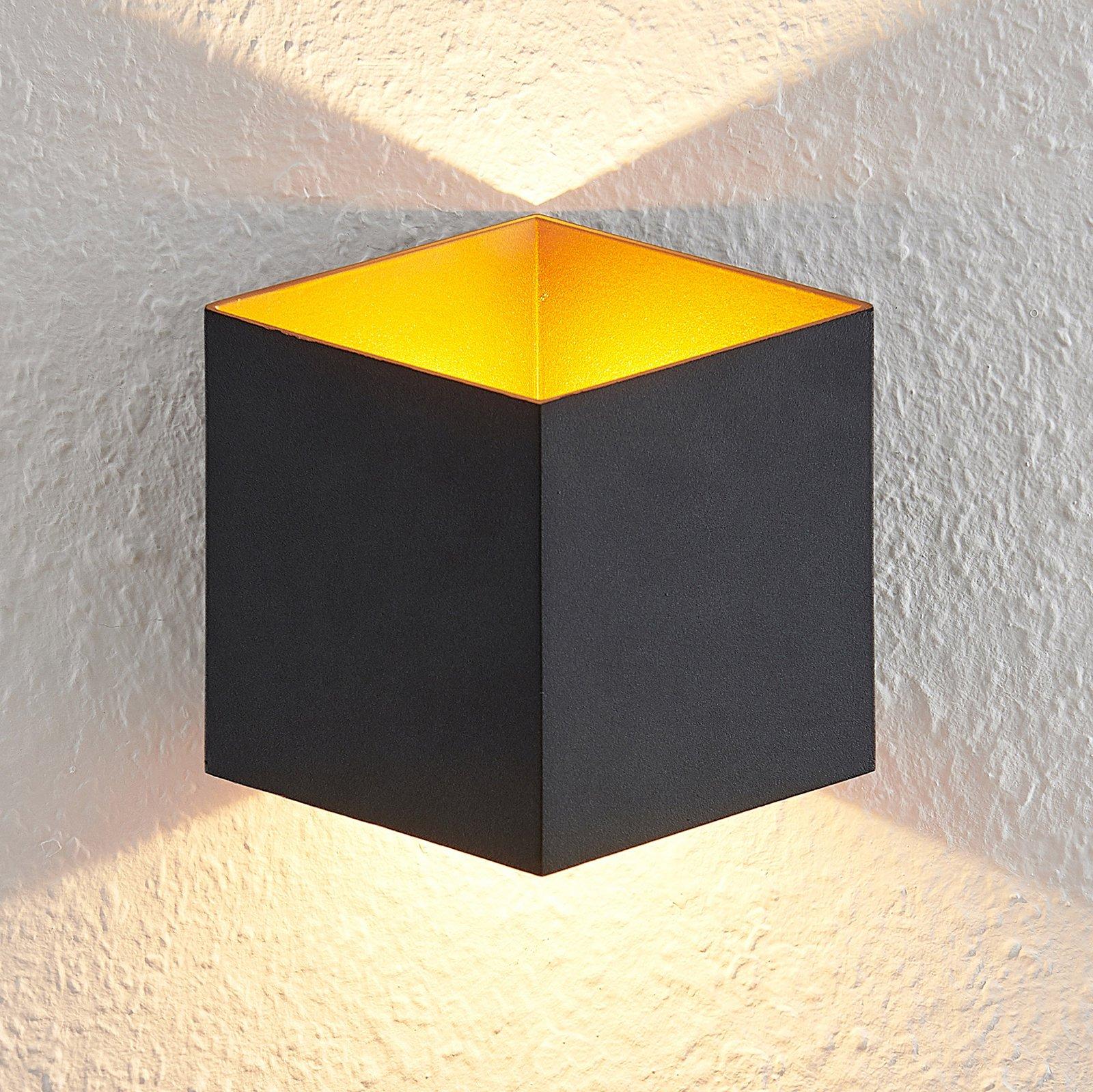 Arcchio Alima LED-vegglampe, dimbar, IP44, svart