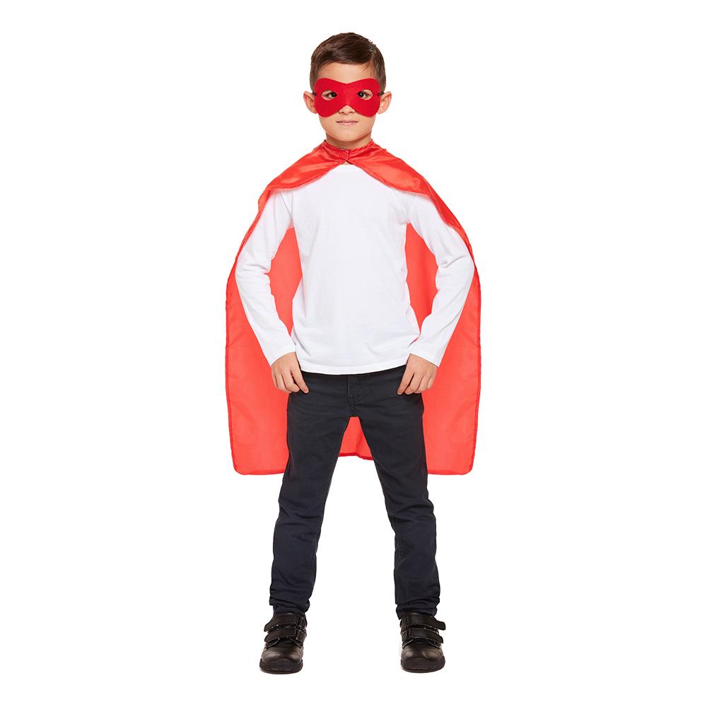 Superhjälte Kit för Barn Röd