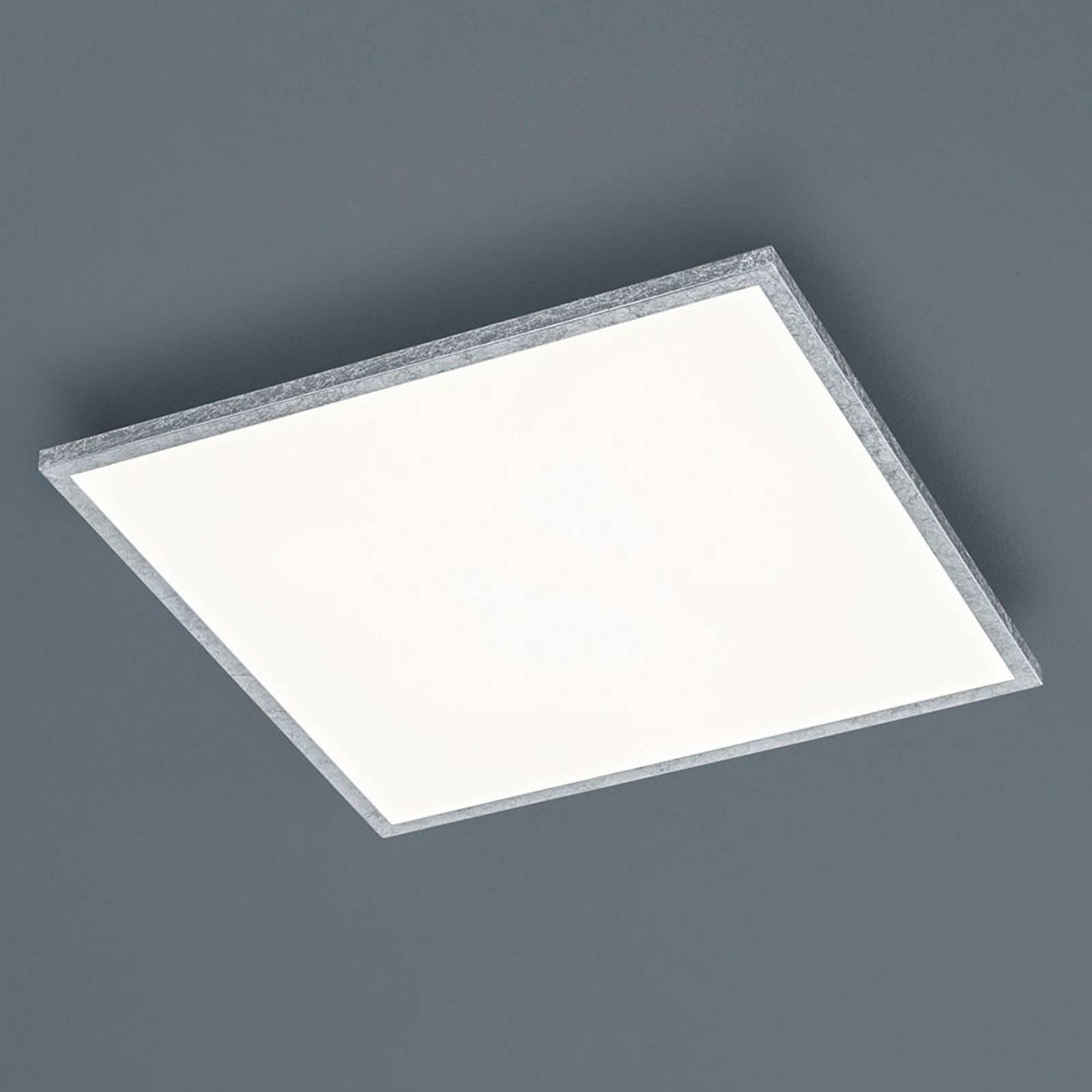Helestra Rack LED-taklampe, dimbar, kantet, sølv