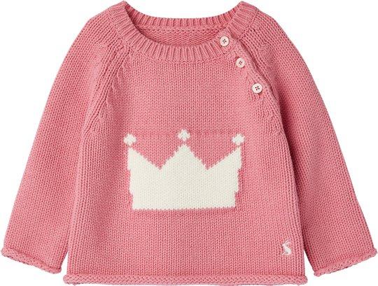 Tom Joule Beau Strikket Genser, Pink Crown 6-9 Måneder