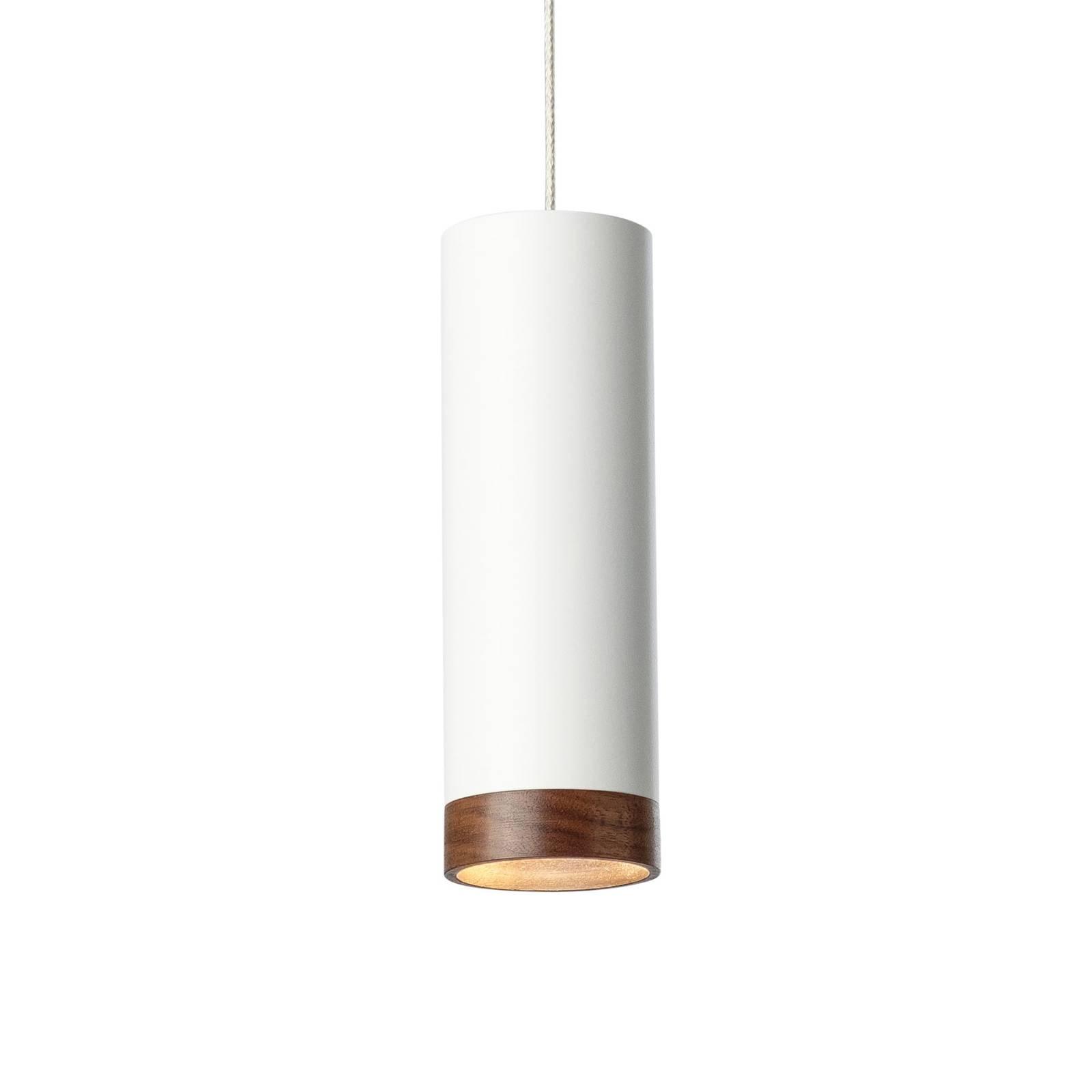 LED-riippuvalaisin PHEB, valkoinen/pähkinäpuu