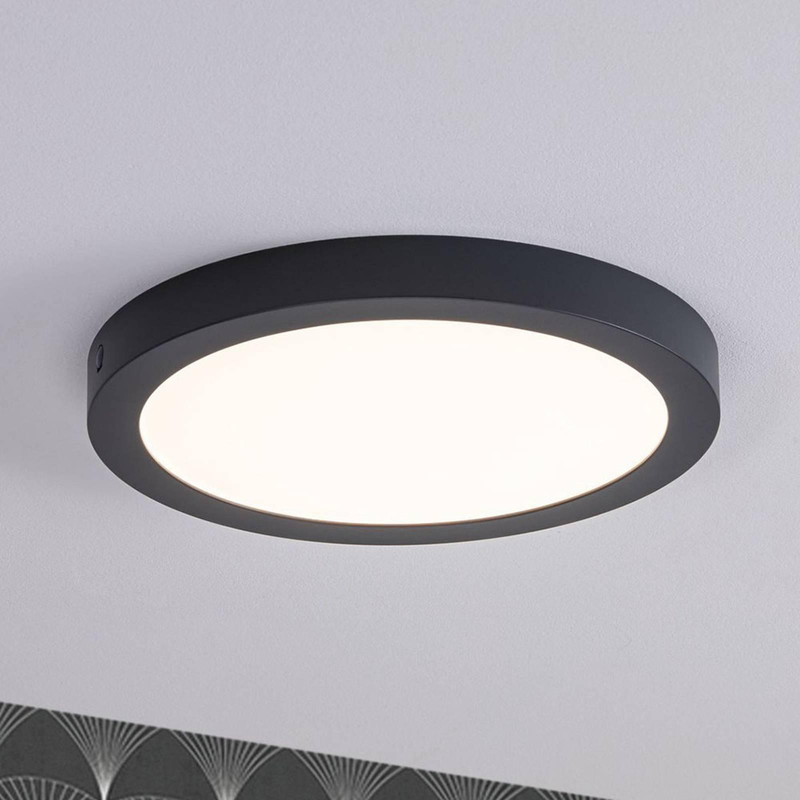 Paulmann-LED-paneeli Abia, pyöreä, tummanharmaa