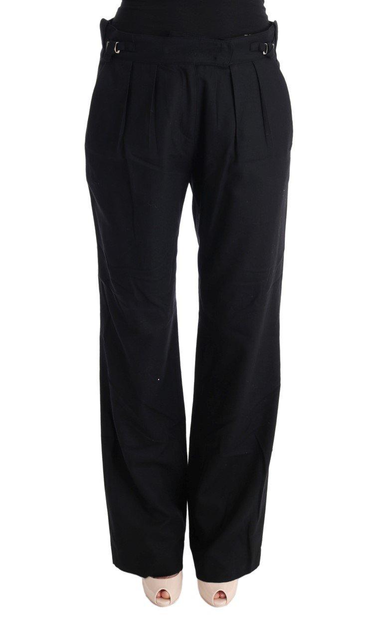 Ermanno Scervino Women's Straight Leg Formal Trouser Black SIG30326 - IT40 S