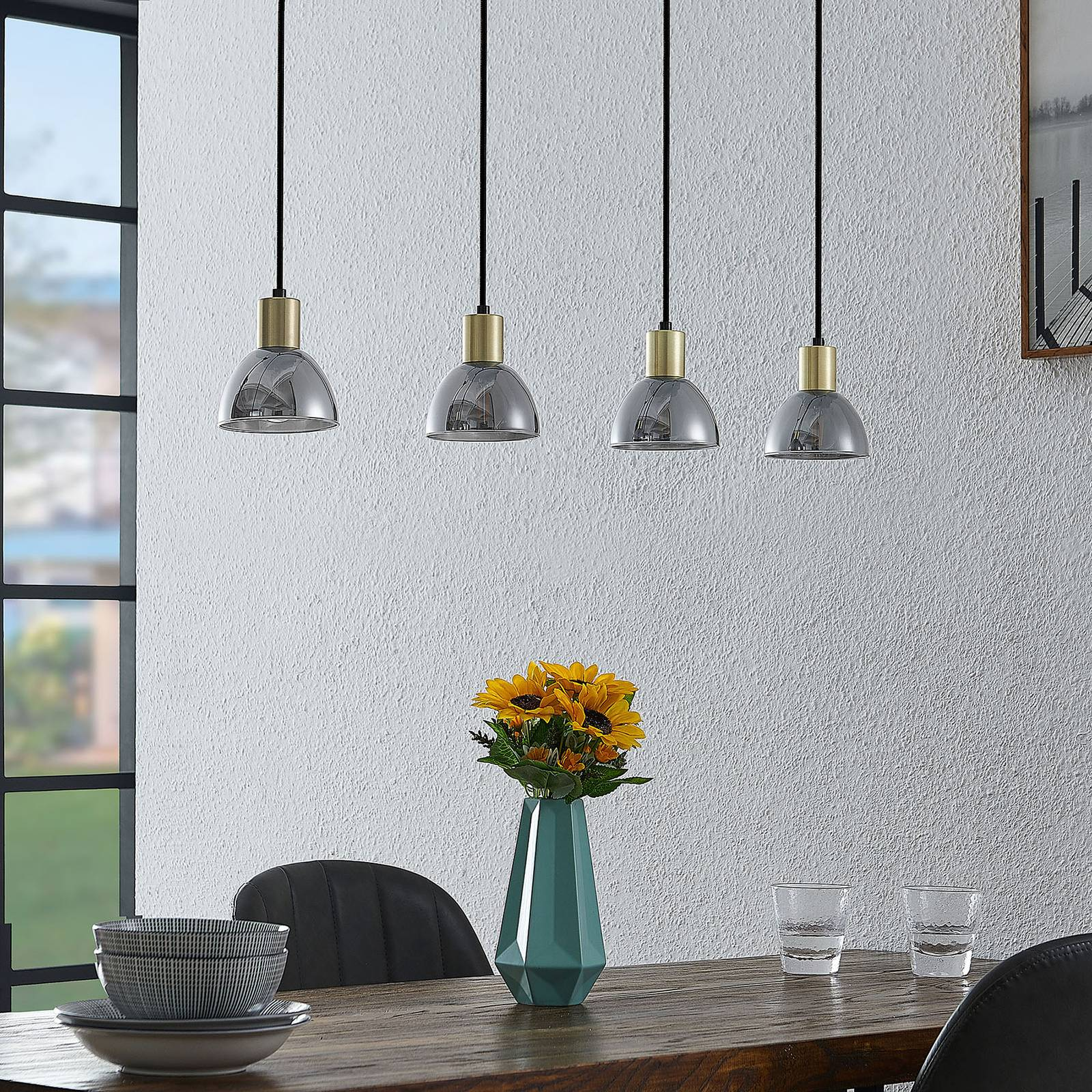 Lindby Aniol -riippuvalaisin, 4-lamppuinen