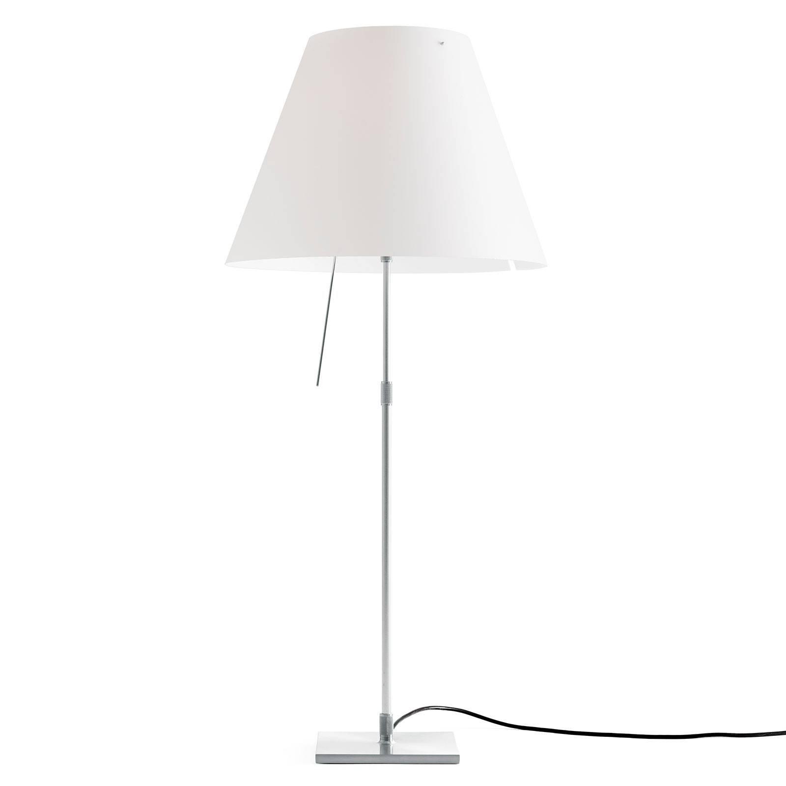 Luceplan Costanza bordlampe D13 aluminium/hvit