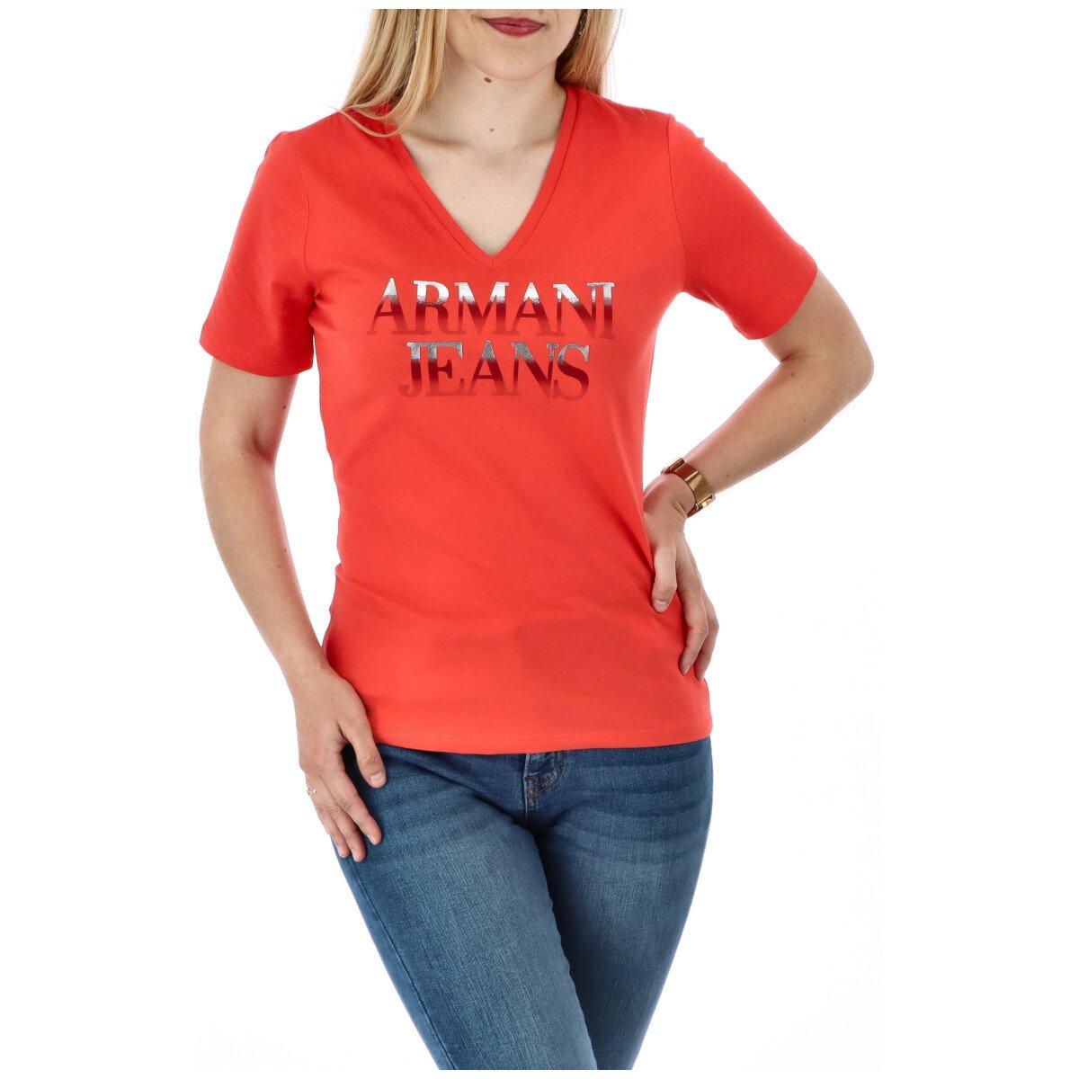 Armani Jeans Women's T-Shirt Various Colours 271608 - coral XS
