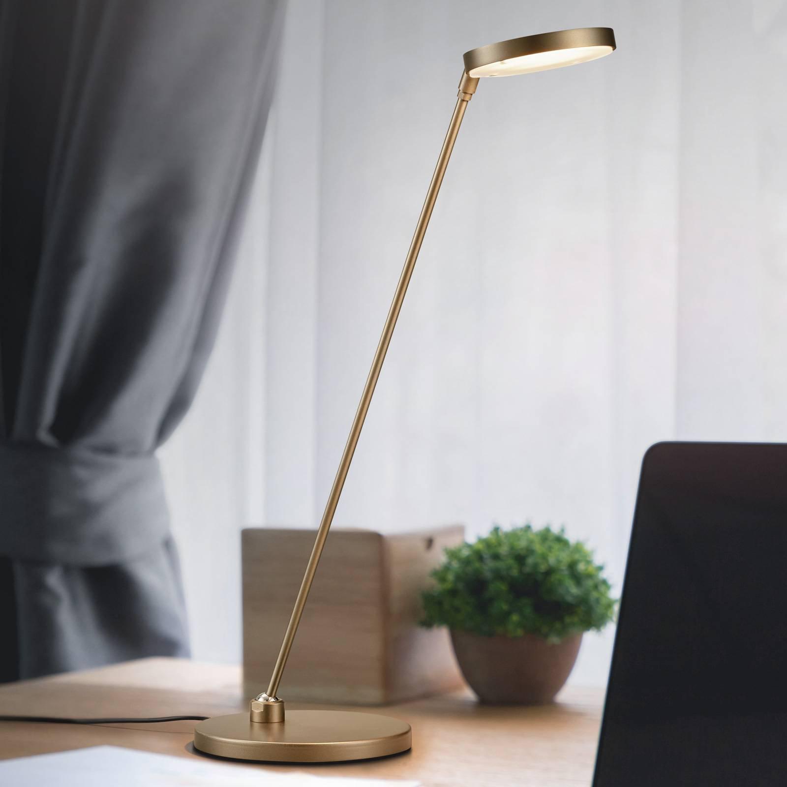 LED-bordlampe Thea-T, bronse