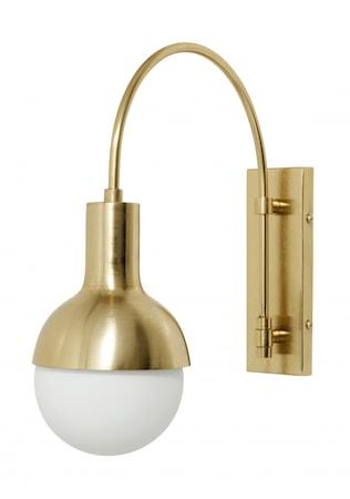 MOON Vägglampa för Stor Dekorativ Lampa Mässing