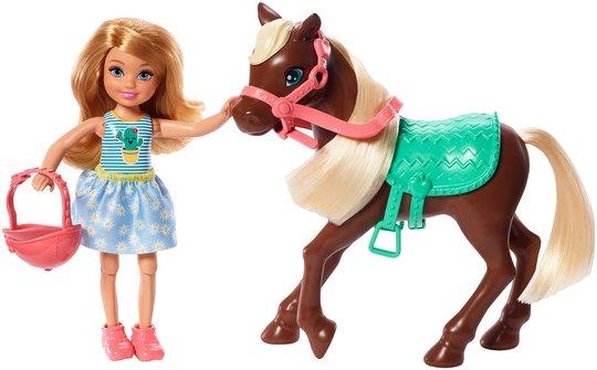 Barbie Club Chelsea Dukke med Hest