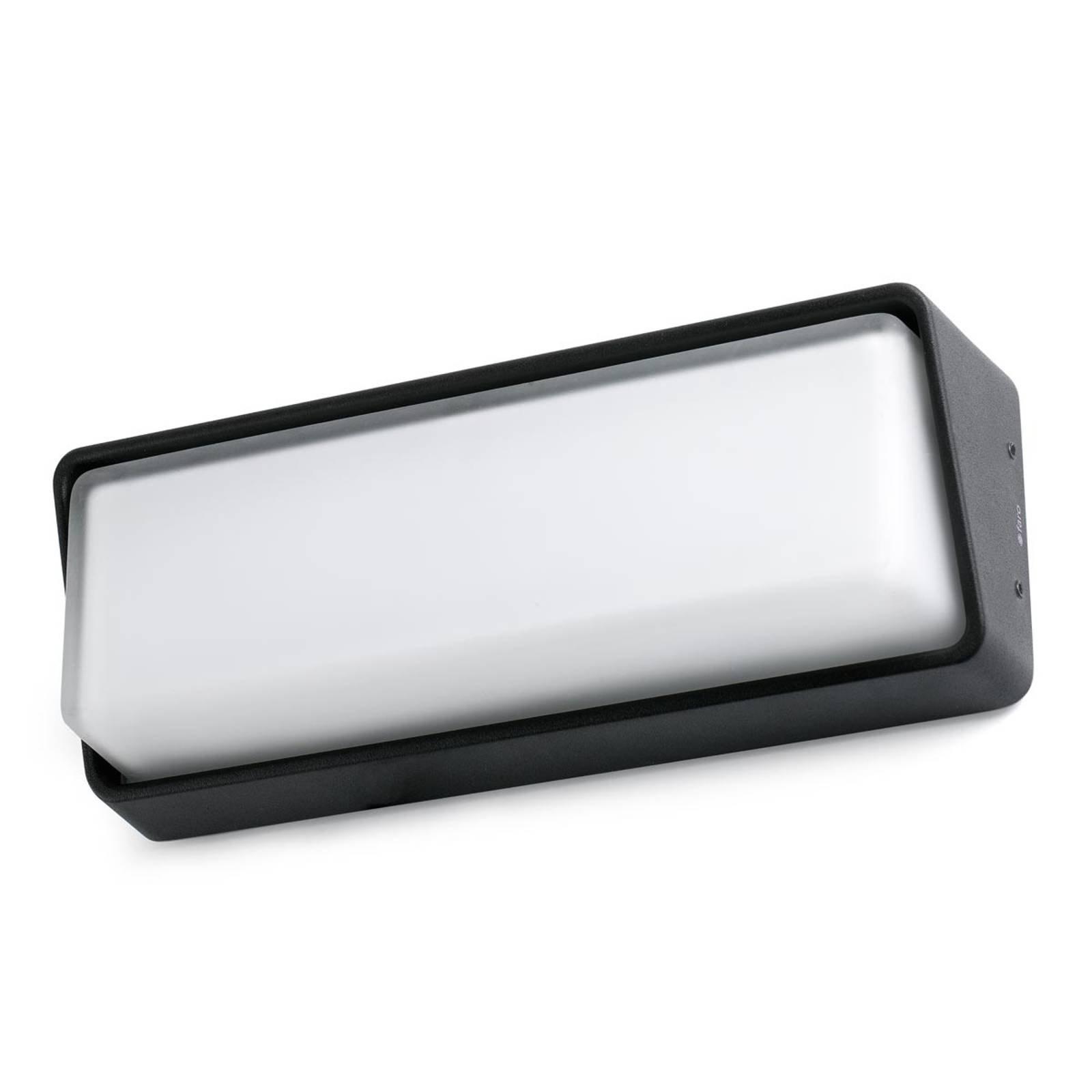 Tidløs utevegglampe Half med LED-lys