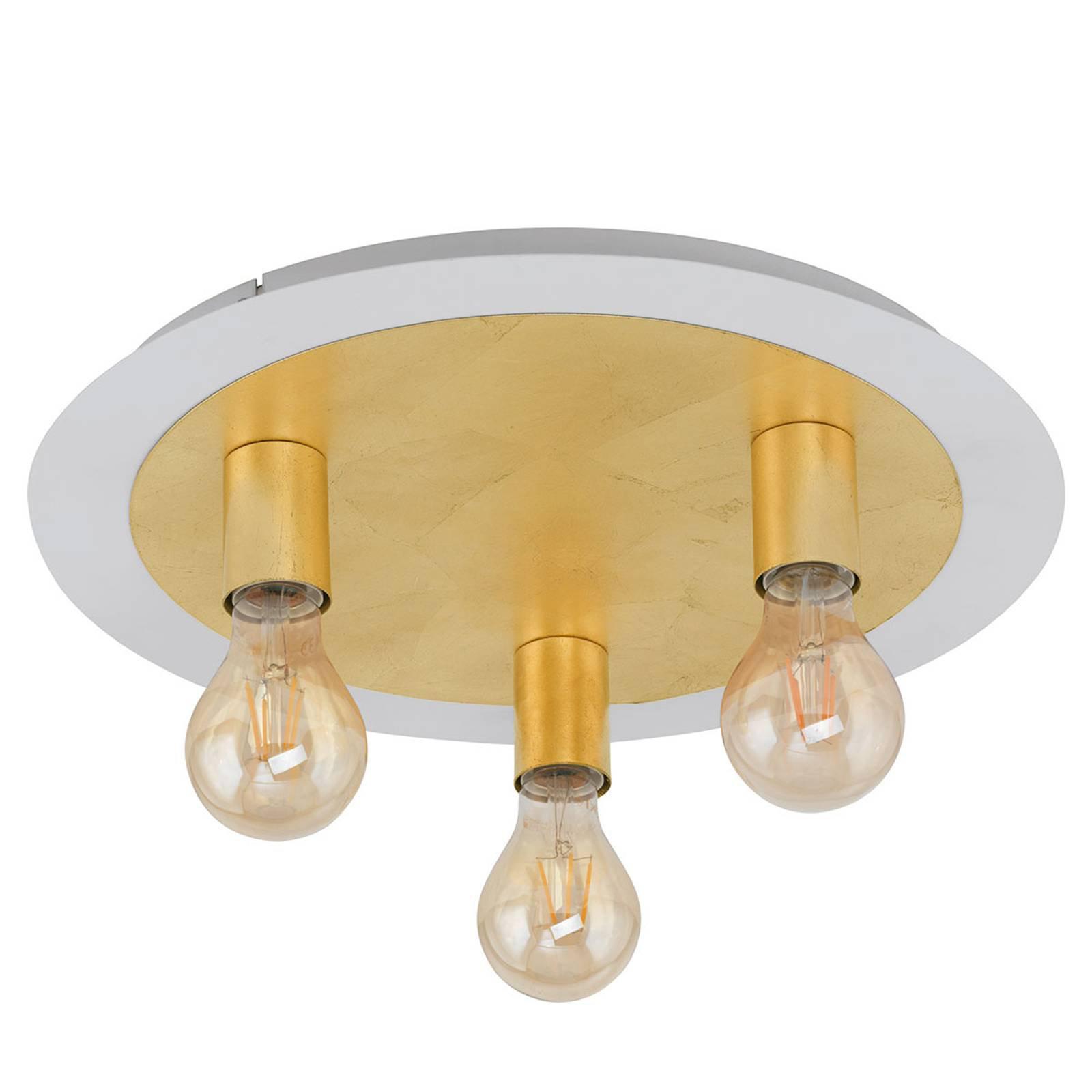 LED-taklampe Passano 3 lyskilder gull