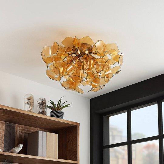 Lindby Moscalina taklampe, amber
